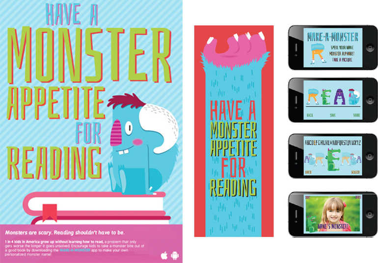 Team Project, Monster Appetite for Reading, Ad Campaign, 2016