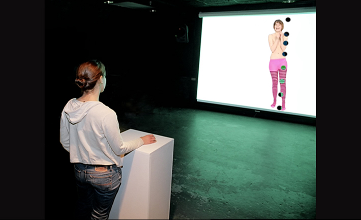 Puppet Sprite, interactive video installation